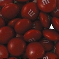 Maroon M&M's Chocolate Candy