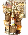 Wicker Wine Stacker - Purim Basket