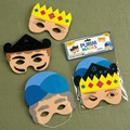 Mordechai, Esther & Haman Masks