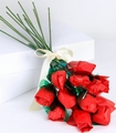 Red Long-Stemmed Roses Confection - 12-Piece Bunch