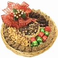 LG Holiday Nut Wicker Gift Tray