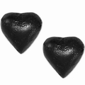 Black Foiled Milk Chocolate Hearts