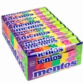 Mentos Rainbow Fruit Candy Rolls - 40CT Case