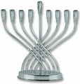 Silver Plated Menorah