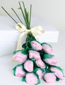 Pink Long-Stemmed Roses Confection - 12-Piece Bunch