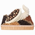 White Chocolate Cornucopia Basket