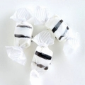 Black & White Salt Water Taffy - Black Licorice