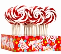Red & White Swirl Whirly Pops - Cherry