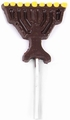 Hanukkah Menorah Chocolate Lolly