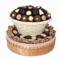 Round White Chocolate Gift Basket