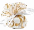 Brown & White Organza Bags - 12CT Bag