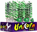 Green & White Unicorn Pops - Lime