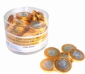 Nut-Free Two-Tone Milk Chocolate Coins - 70CT Tub