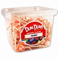 Orange Dum Dum Pops - 1 LB Tub