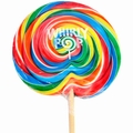 6 oz Rainbow Swirl Whirly Pop - 14 Inches