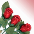 Non-Dairy Red Chocolate Roses - 12-Pack