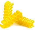 Old Fashioned Yellow Thin Candy Ribbon - 6CT Box