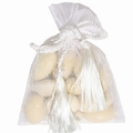 White Mesh Favor Bags - 12CT Bag