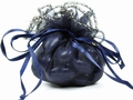 Navy Blue Organza Bag - 12CT Bag