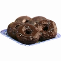 Chanuka Chocolate Dipped Donuts - 6CT Box