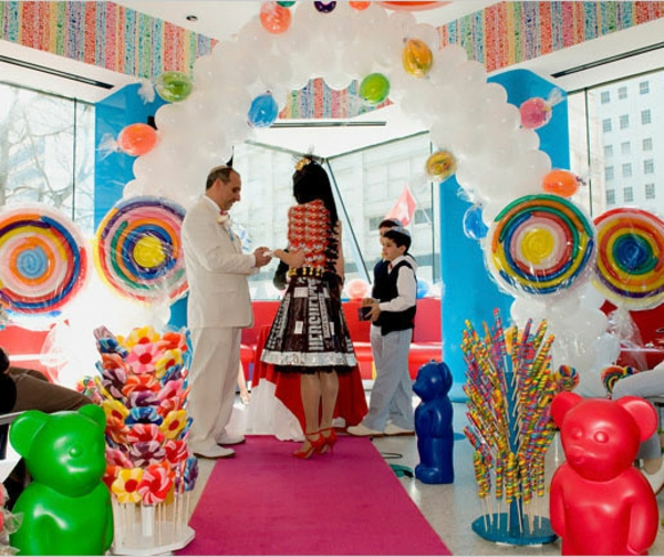 A Wedding in a Candy Store