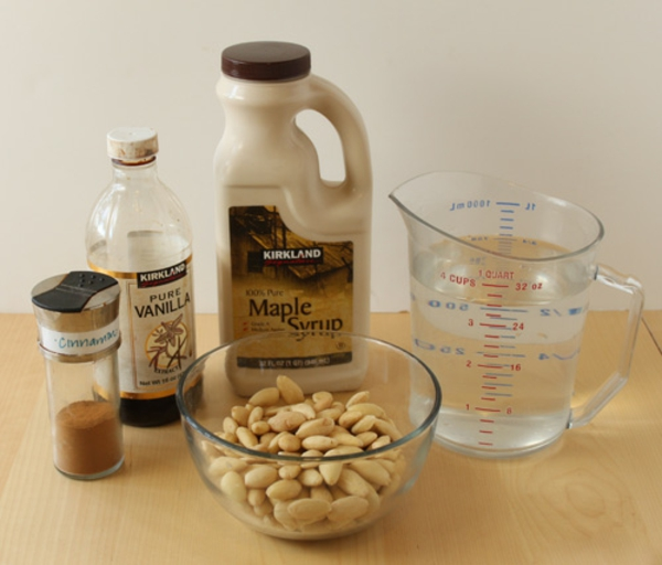 Recipe for almond mik