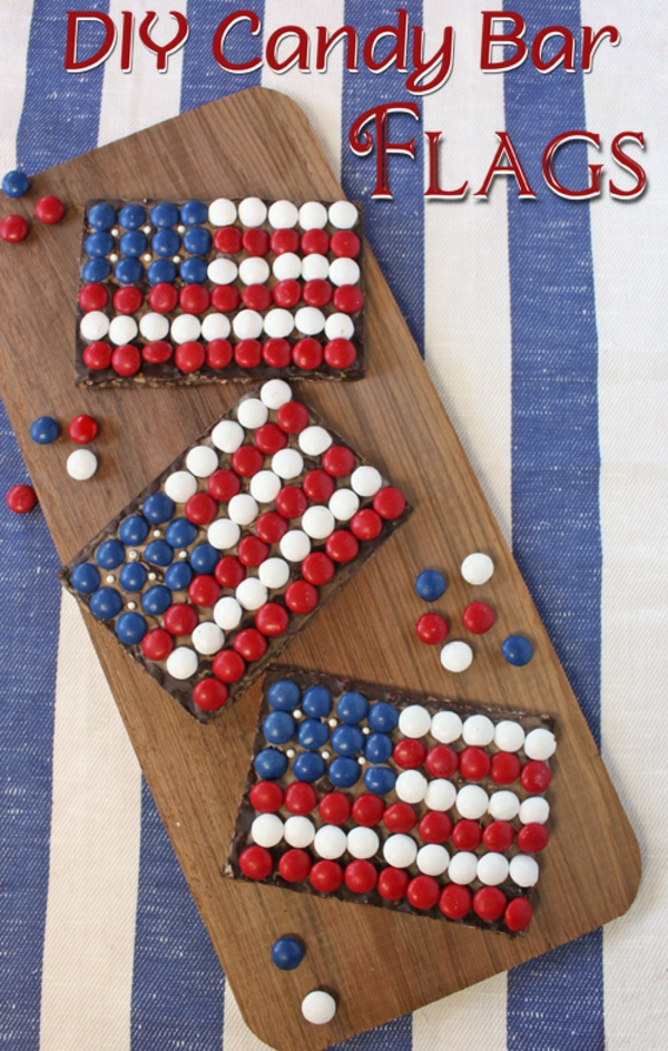 DIY Candy Bar Flags For the Fourth of July