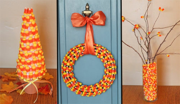 halloween crafts decorating with candy corn - Candy Corn Halloween Decorations
