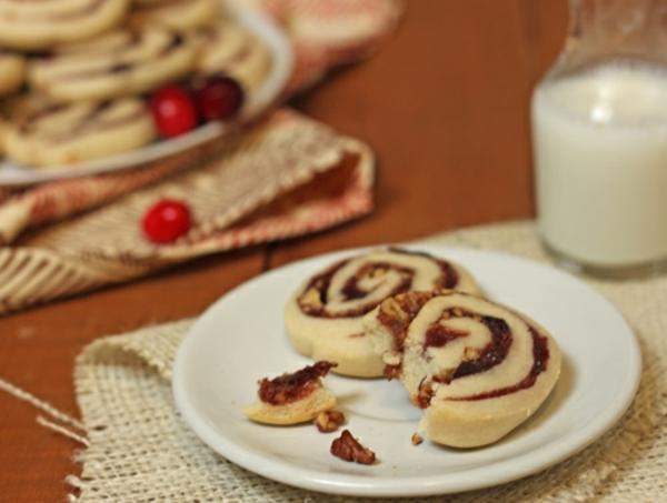 Cranberry Pinwheel Cookies