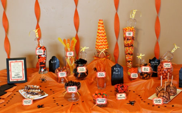 A Halloween Candy Buffet