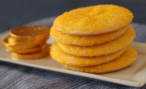 Hanukkah Gelt Coins Cookies