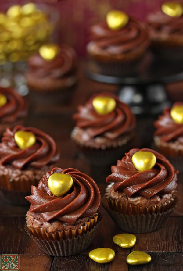 Easy Nutella Cupcakes recipe 4 Ingredients | Oh Nuts Blog