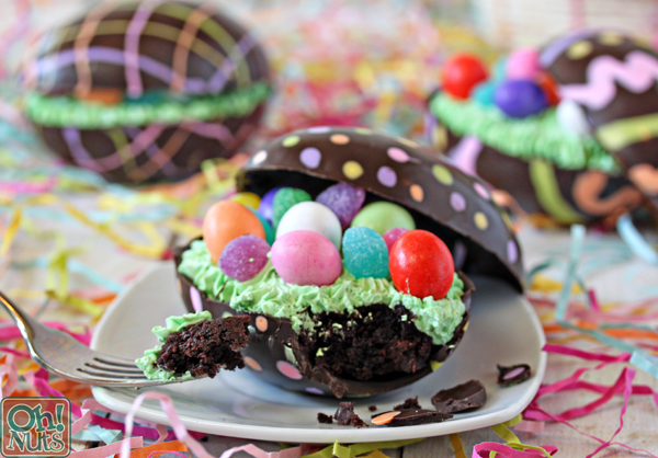 Brownie Filled Chocolate Easter Eggs Oh Nuts Blog