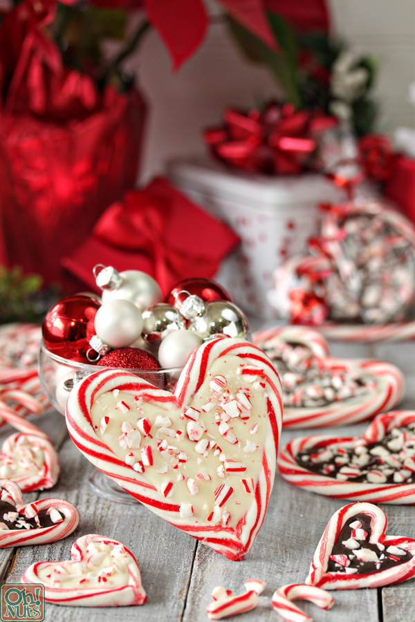 Peppermint Bark Candy Cane Hearts | Candy Cane Ideas And Recipes You'll Love