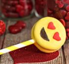Heart Eye Emoji Oreo Pops