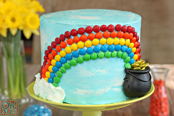 Outstanding Candy Rainbow Cake Oh Nuts Blog Personalised Birthday Cards Arneslily Jamesorg