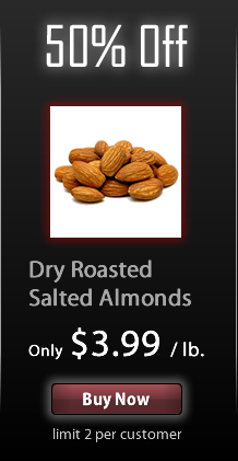 Save 50% off Dry Roasted Salted Almonds