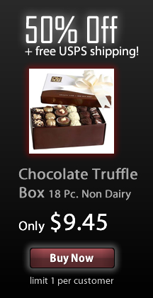 Save 50% + free shipping off Chocolate Truffles