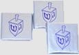 Hanukkah Chocolate Squares - Dreidel