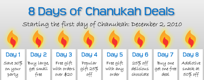Coming Soon: 8 Days of Chanukah Deals