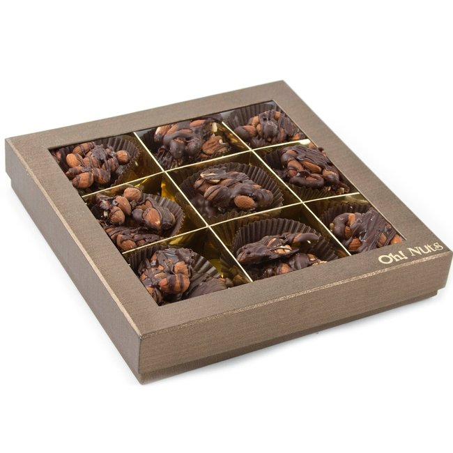 Dark Chocolate Caramelized Almond Clusters Gift Box