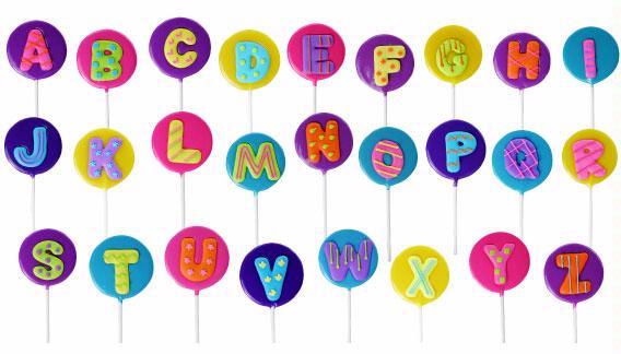 Alphabet Letter Lollipops