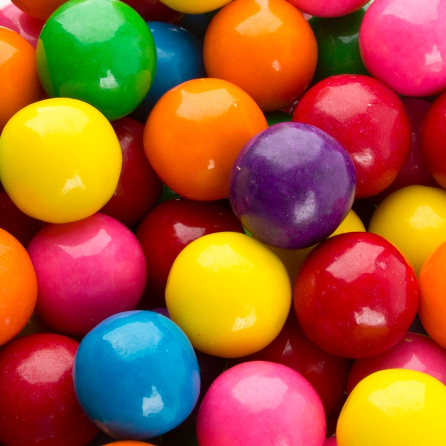 Rainbow Assorted Large Gumballs Oh Nuts 174