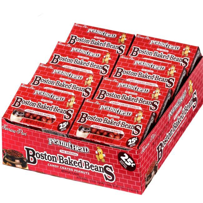 Peanuthead Boston Baked Beans 24ct Box Candy Mini