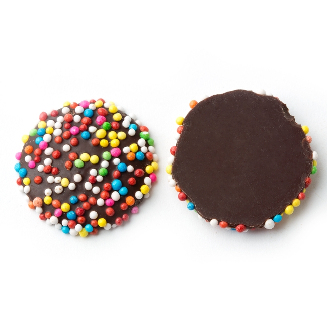 Rainbow Chocolate Nonpareils • Chocolate Candy Delights ...