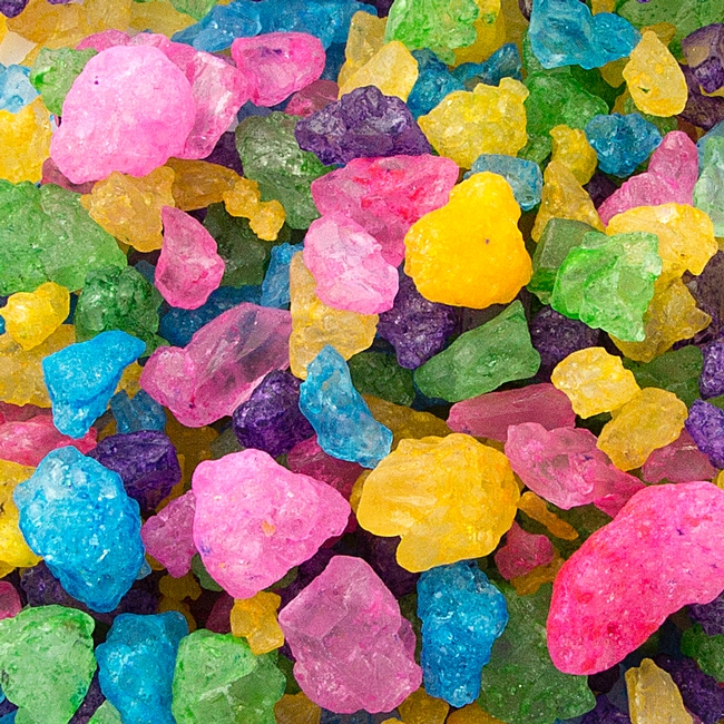 colorful rainbow rock candy crystals � rock candy amp sugar