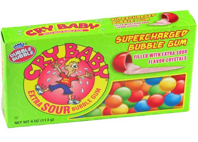 Dubble Bubble Cry Baby Extra Sour Bubble Gum - Unique & Oddball ...