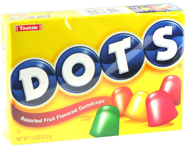 Tootsie Original Dots Gumdrops Candy 7 5 Oz Theater Box