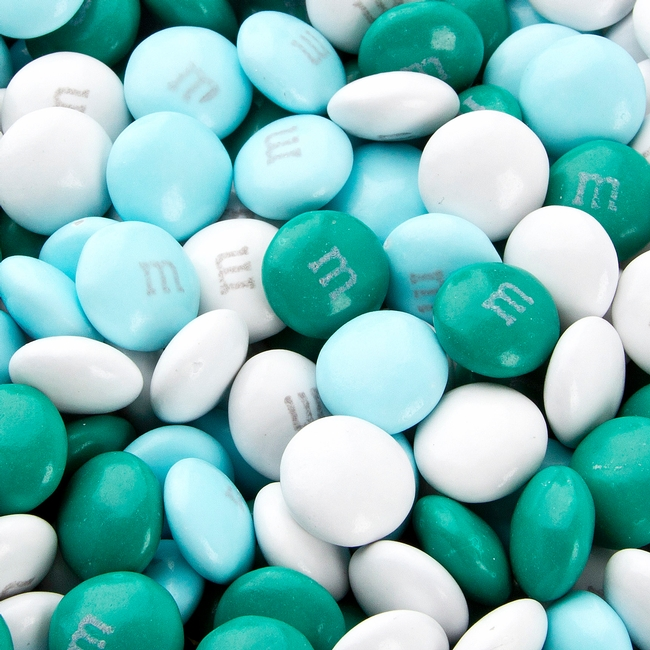 Light Blue Teal Amp White M Amp Ms Chocolate Candy Candy