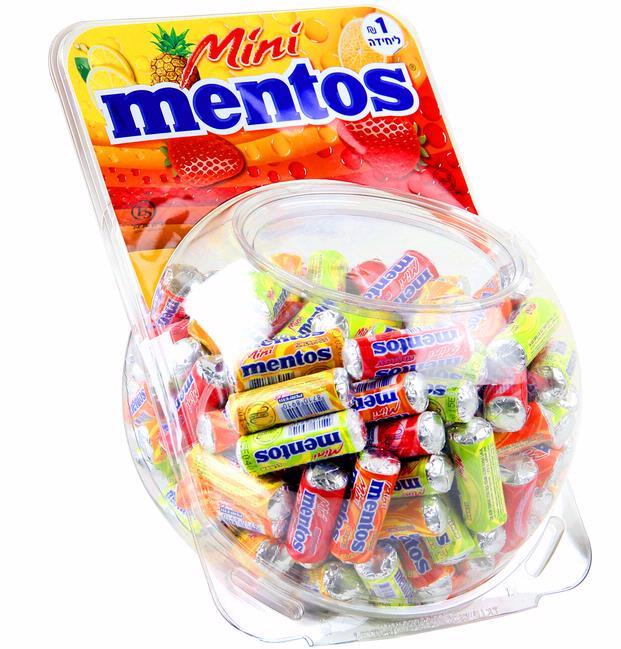 Kosher Mentos Mini Candy Rolls